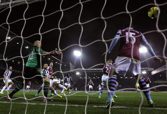Odem scores the equaliser against Villa