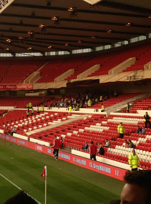 Millwall fans turned up in force to support their team.